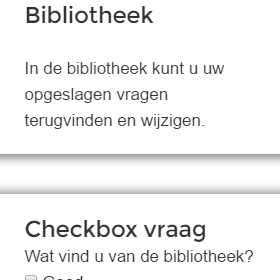 Question Degrees bibliotheek
